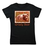 Grizzly Bear Cub in Fireweed Girl's Tee