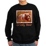 Grizzly Bear Cub in Fireweed Sweatshirt (dark)