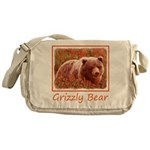 Grizzly Bear Cub in Fireweed Messenger Bag