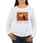 Grizzly Bear Cub in Fi Women's Long Sleeve T-Shirt