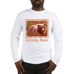 Grizzly Bear Cub in Fireweed Long Sleeve T-Shirt