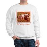 Grizzly Bear Cub in Fireweed Sweatshirt