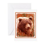 Grizzly Bear Cub in Fire Greeting Cards (Pk of 10)