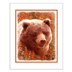 Grizzly Bear Cub in Fireweed Small Poster