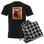 Grizzly Bear Cub in Fireweed Men's Dark Pajamas
