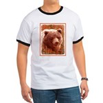 Grizzly Bear Cub in Fireweed Ringer T