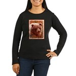 Grizzly Bear Cub Women's Long Sleeve Dark T-Shirt