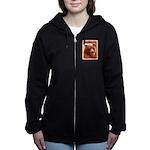 Grizzly Bear Cub in Fireweed Women's Zip Hoodie
