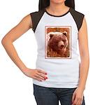Grizzly Bear Cub in Fi Junior's Cap Sleeve T-Shirt