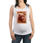 Grizzly Bear Cub in Fireweed Maternity Tank Top