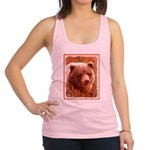 Grizzly Bear Cub in Fireweed Racerback Tank Top