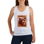Grizzly Bear Cub in Fireweed Women's Tank Top