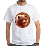 Grizzly Bear Cub in Firewee Men's Classic T-Shirts