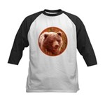 Grizzly Bear Cub in Fireweed Kids Baseball Tee
