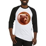 Grizzly Bear Cub in Fireweed Baseball Tee