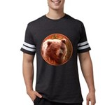 Grizzly Bear Cub in Fireweed Mens Football Shirt