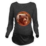 Grizzly Bear Cub in Long Sleeve Maternity T-Shirt