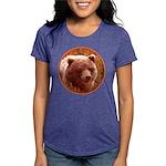 Grizzly Bear Cub in Firew Womens Tri-blend T-Shirt