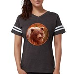 Grizzly Bear Cub in Fireweed Womens Football Shirt