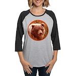 Grizzly Bear Cub in Fireweed Womens Baseball Tee