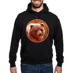 Grizzly Bear Cub in Fireweed Hoodie (dark)
