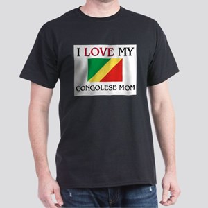 I Love My Congolese Mom Dark T-Shirt