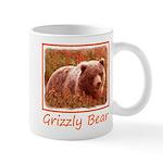 Grizzly Bear Cub in Fireweed 11 oz Ceramic Mug