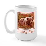 Grizzly Bear Cub in Firew 15 oz Ceramic Large Mug