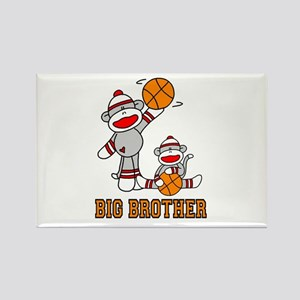 Basketball Monkey Big Brother Rectangle Magnet