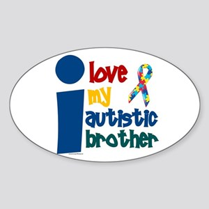 I Love My Autistic Brother 1 Oval Sticker