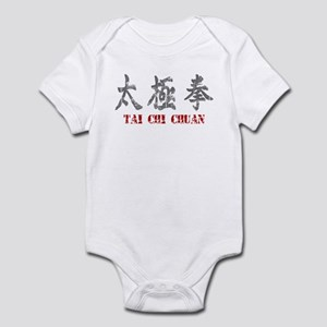 Vintage Tai Chi Calligraphy Infant Creeper