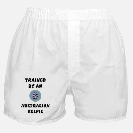 Trained by a Kelpie Boxer Shorts