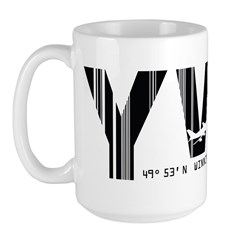 Winnipeg Canada YWG Air Wear Large Mug