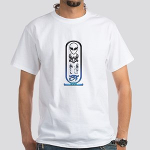 Alien-Egyptian Cartouche 12 White T-Shirt