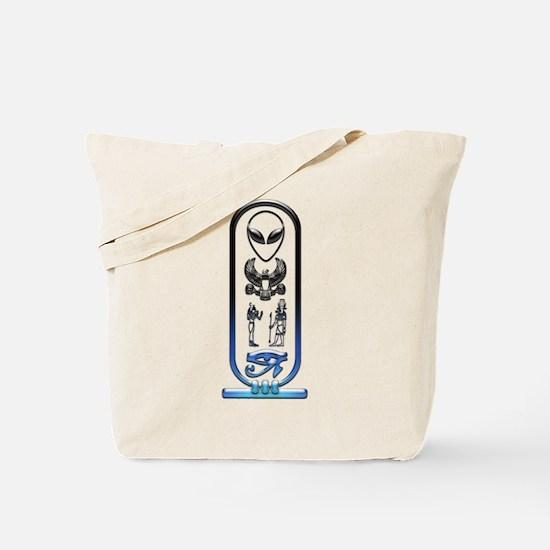 Alien-Egyptian Cartouche 12 Tote Bag