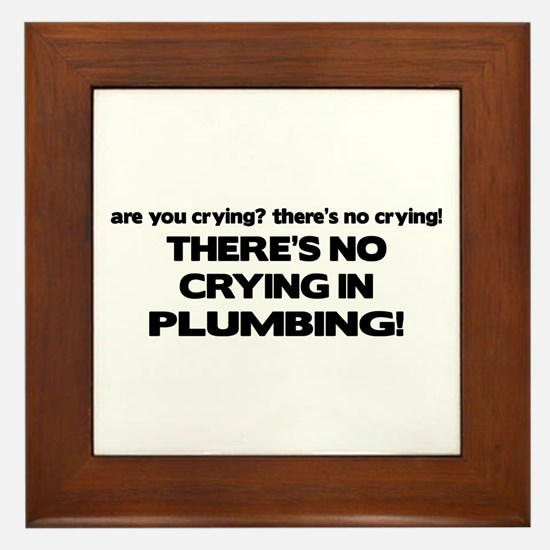 There's No Crying Plumbing Framed Tile