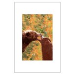 Grizzly Bear Mom and Cub Large Poster