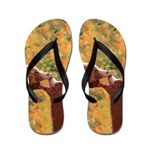Grizzly Bear Mom and Cub Flip Flops