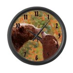 Grizzly Bear Mom and Cub Large Wall Clock