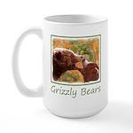 Grizzly Bear Mom and Cub 15 oz Ceramic Large Mug