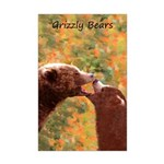 Grizzly Bear Mom and Cub Mini Poster Print