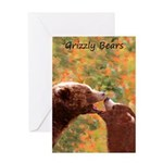Grizzly Bear Mom and Cub Greeting Card