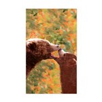 Grizzly Bear Mom and Cub Sticker (Rectangle)