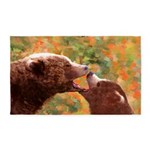 Grizzly Bear Mom and Cub Area Rug