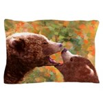 Grizzly Bear Mom and Cub Pillow Case