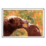 Grizzly Bear Mom and Cub Banner