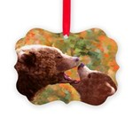 Grizzly Bear Mom and Cub Picture Ornament
