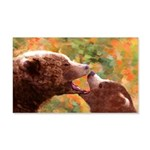 Grizzly Bear Mom and Cub 20x12 Wall Decal