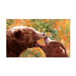 Grizzly Bear Mom and Cub 35x21 Wall Decal