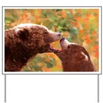 Grizzly Bear Mom and Cub Yard Sign